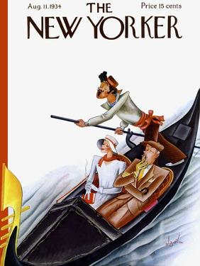 The New Yorker Cover - August 11, 1934 by Constantin Alajalov