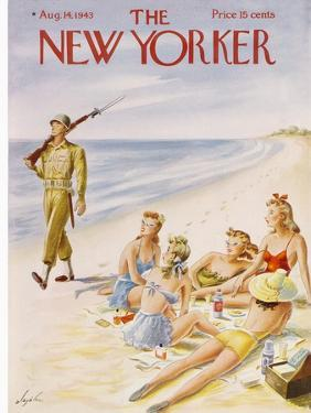 The New Yorker Cover - August 14, 1943 by Constantin Alajalov