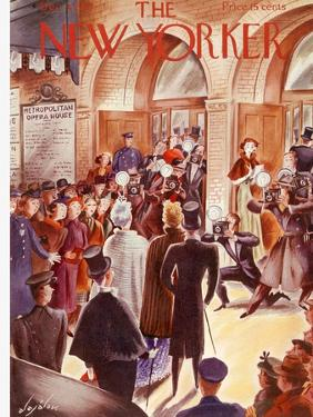 The New Yorker Cover - December 4, 1937 by Constantin Alajalov
