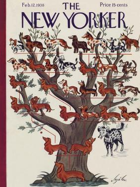 The New Yorker Cover - February 12, 1938 by Constantin Alajalov