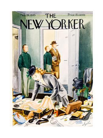 The New Yorker Cover - February 24, 1945 by Constantin Alajalov