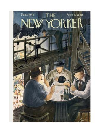 The New Yorker Cover - February 7, 1948 by Constantin Alajalov