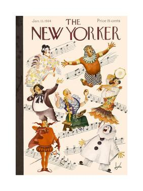 The New Yorker Cover - January 13, 1934 by Constantin Alajalov