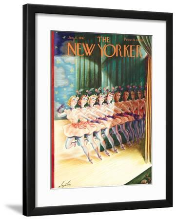 The New Yorker Cover - January 17, 1942 by Constantin Alajalov