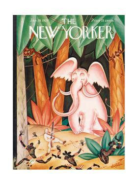 The New Yorker Cover - January 19, 1929 by Constantin Alajalov