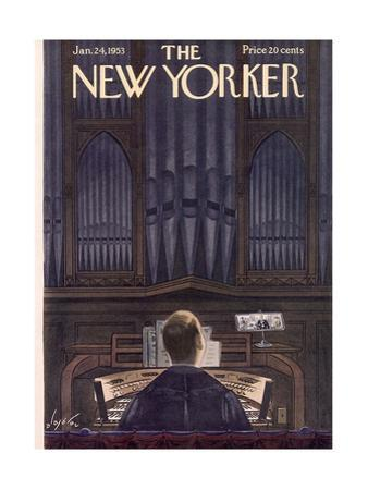 The New Yorker Cover - January 24, 1953 by Constantin Alajalov