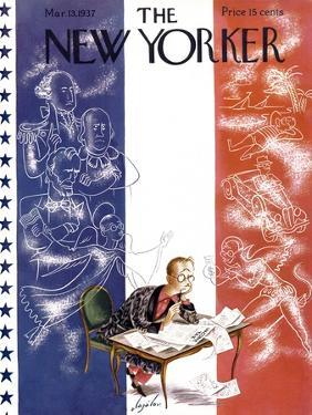 The New Yorker Cover - March 13, 1937 by Constantin Alajalov