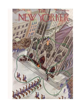 The New Yorker Cover - March 16, 1935 by Constantin Alajalov