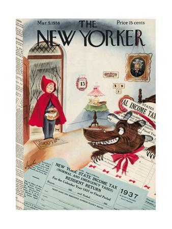 The New Yorker Cover - March 5, 1938 by Constantin Alajalov