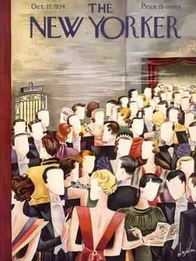 The New Yorker Cover - October 27, 1934 by Constantin Alajalov