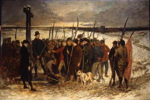 La Guerre Des Paysans (Le Rassemblement), C.1875 by Constantin Emile Meunier