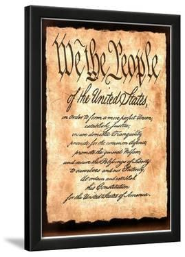 Constitution America Motivational Art Print Poster