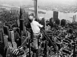 Construction for the Empire State Building's New 217 Foot Multiple Television Tower