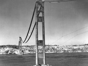 Construction of the Golden Gate Bridge is Well Under Way
