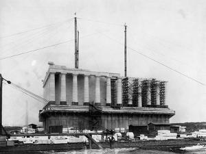 Construction of the Lincoln Memorial