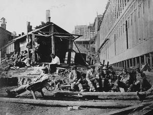 Construction Workers Take Break