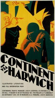 Continent via Harwich, LNER, c.1923-1930