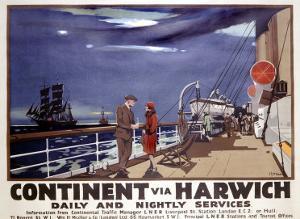Continent via Harwich