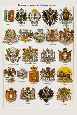 Ecussons et armes des diverses nations by Continental School