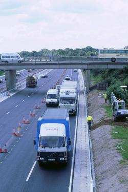 Contraflow system on M27 motorway