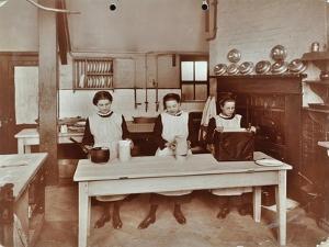 Cookery Lesson, Morden Terrace School, Greenwich, London, 1908