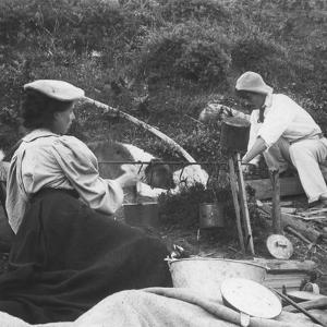 Cooking on the Fire, Early 20th Century