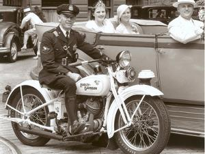 Cop on Motorcycle in Parade
