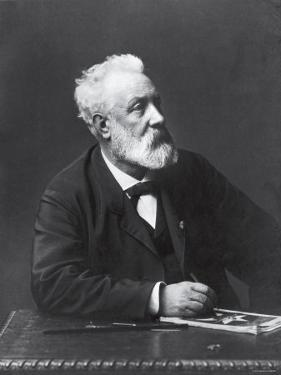 Copy from Carte de Visite of French Writer and Futurist Jules Verne