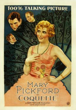 Coquette, Matt Moore, Johnny Mack Brown, Mary Pickford, 1929