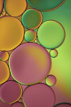 Green and Orange Drops by Cora Niele