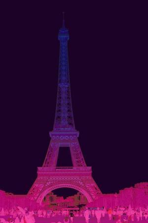 Magenta Eiffel Tower by Cora Niele