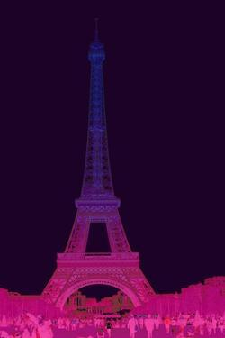 Magenta Eiffel Tower by Cora Niele