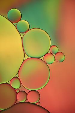 Orange, Red And Green Drops by Cora Niele