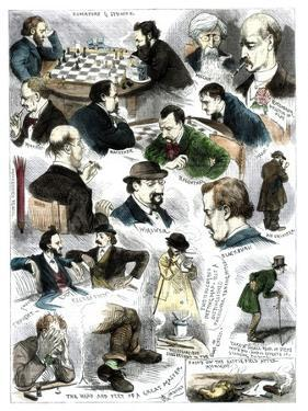 Sketches at the International Chess Tournament, May 5, 1883 by Corbould