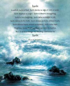 Corinthians (Bible Quote) Art Poster Print
