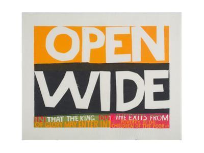 Wide Open by Corita Kent