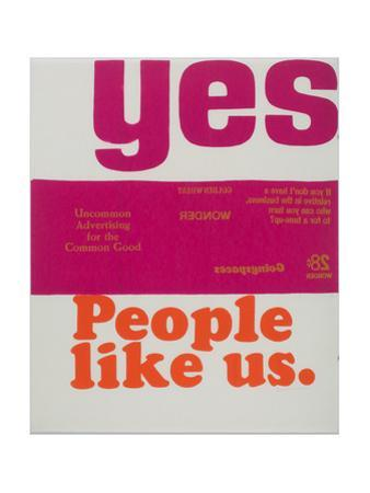 Yes People Like Us by Corita Kent