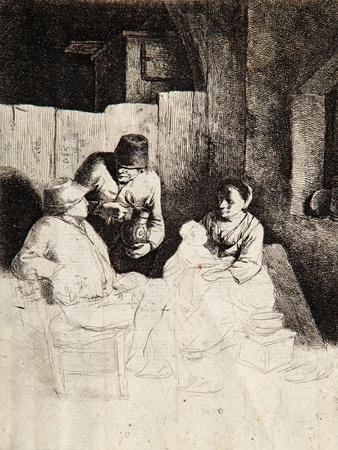 Mother and Child with Peasants in a Tavern