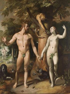 The Fall of Man, 1592 by Cornelis Cornelisz. van Haarlem