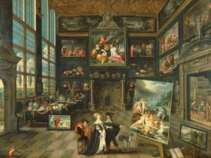 Interior of a Gallery, 1637 by Cornelis de I Baellieur