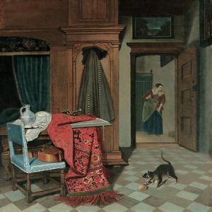 Interior with a Carpet by Cornelis de Man