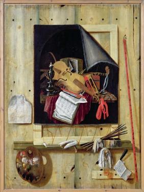 Trompe L'Oeil Still Life, 1665 by Cornelis Norbertus Gysbrechts