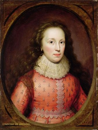Portrait of a Woman, Traditionally Identified as the Countess of Arundel, 1619 (Oil on Panel)