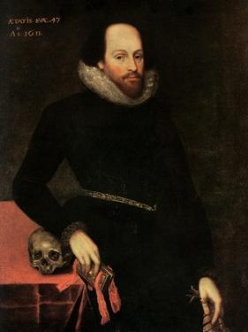 The Ashbourne Portrait of Shakespeare, 16th Century by Cornelius Ketel