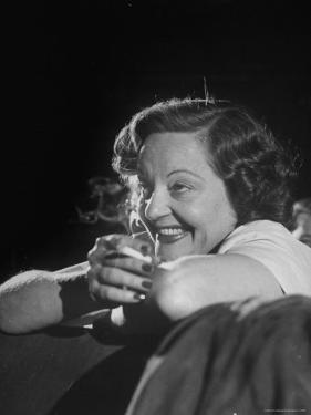 Actress Tallulah Bankhead, Attending the Barter Theatre Auditions by Cornell Capa