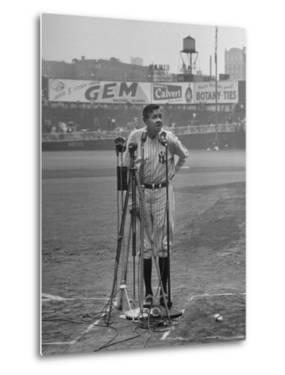 Babe Ruth at New York Yankees' 25th Anniversary by Cornell Capa