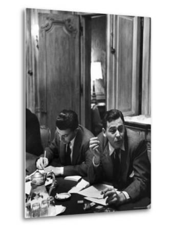 Critic James Agee Attending Life's Round Table Discussion on the Movies by Cornell Capa
