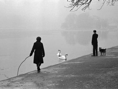 Hyde Park in Winter by Cornell Capa