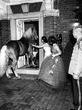 People Bringing in Horse at Dwight D. Eisenhower's Inauguration Party by Cornell Capa