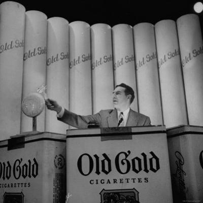 "Ted Mack Hosting the TV Program ""Amateur Hour"" by Cornell Capa"